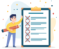 checklist illustration - freepik